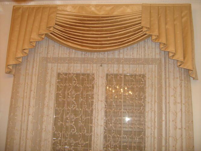 Tenda da interno con drappo arredo tendaggi - Tende classiche camera da letto ...